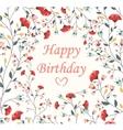 Beautiful Birthday card vector image vector image