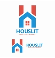 House and letter H logo template vector image