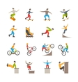 Urban Sport Icons With People vector image