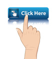 hand push button vector image vector image