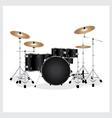 Drum Set Black vector image