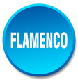 flamenco blue round flat isolated push button vector image