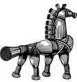 Straw horse vector image