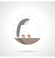 Gray shower head flat color icon vector image