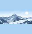 Panorama of mountain peaks vector image