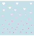 Pastel color hearths pattern vector image