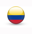 Round icon with national flag of Colombia vector image