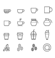 Coffee and Coffee cup icons vector image vector image