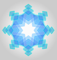 Abstract geometric snowflake vector