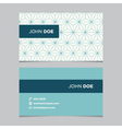 business card pattern blue 02 vector image