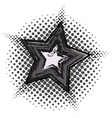 Grunge star with halftone pattern vector image