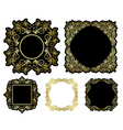 black and gold beautiful frames - vintage vector image vector image