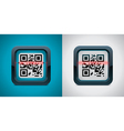 qr code scanner icon vector image vector image