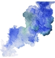 Blue spot watercolor abstract hand painted vector image vector image