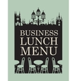 Menu for business lunch vector image vector image