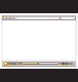 blank internet web browser template vector image vector image