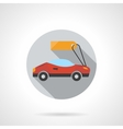 Sports car rental round flat color icon vector image vector image