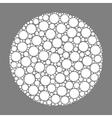 Circle made of dots vector image