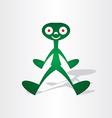 alien man from mars vector image