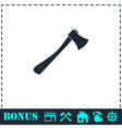 Axe icon flat vector image