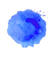 blue blot vector image