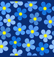 forget-me-not flowers seamless background vector image