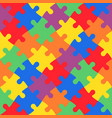 multicolored jigsaw puzzle in diagonal arrangement vector image