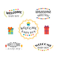Welcome baby boy Baby shower design Baby boy vector image