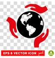 Earth Protection Hands Eps Icon vector image