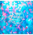 Best holiday abstract blue background vector image