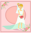 beautiful wedding bride vector image