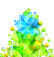 Abstract green pine vector image vector image