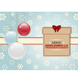 Christmas present label and baubles vector image vector image