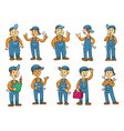 mechanic cartoon charactor vector image vector image