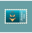 Swimsuit stamp Summer Vacation vector image