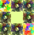 Abstractly painted watercolor squares vector image