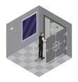 Bank Safe Open Door of the Bank Safe Bank Vault vector image