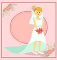 beautiful wedding bride vector image