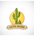 Cactus Friends Abstract Label vector image