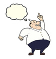 cartoon big fat boss with thought bubble vector image