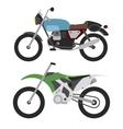 retro motorcycle and motorcross bike isolated on vector image