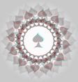 Spades 3d background vector image