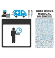 Time Manager Calendar Page Icon With 1000 Medical vector image