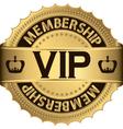 Vip membership golden label vector image