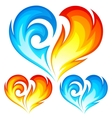 Fire and Ice heart vector image vector image