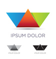 Colorful paper boat emblem vector image vector image