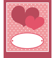 Valentines card or wedding invitation with love vector image vector image