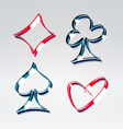 Playing gambling cards symbols vector