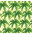 Seamless pattern palm leaves vector image