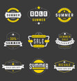 Summer season sale badges and tags design vector image